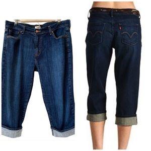 Levi's 515 Capri Dark Wash Jeans